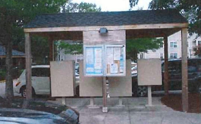 River Shore bulletin board