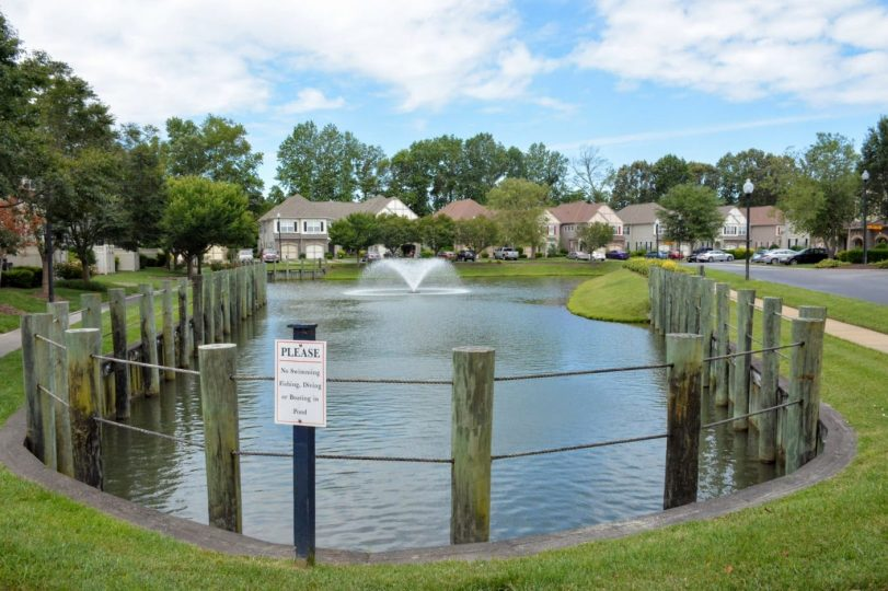 2020-06-15 Pond with Fountain running